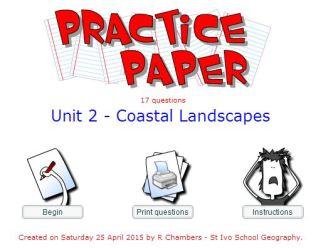 Practice Paper - coasts