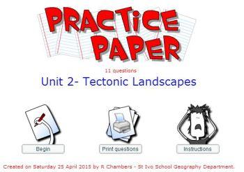 Practice Paper - Tectonics