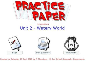 Practice Paper - Watery World