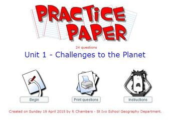 Practice Paper - Unit 1