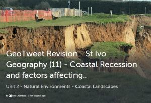 GeoTweet - coastal recession