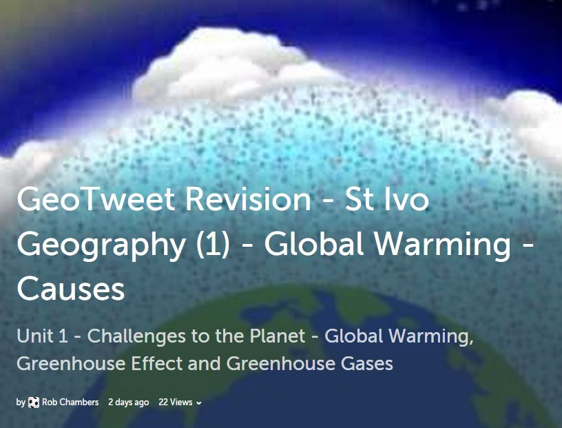 geography case studies global warming Extracts from this document introduction because most global warming emissions remain in the atmosphere for decades or centuries, the choices we make today.