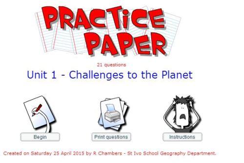 Practic Paper - Challenges