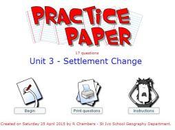 Practice Paper - Settlement