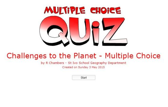 Multiple Choice - Challenges to Planet